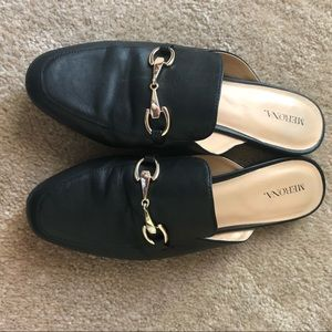 Merona Backless Mule Loafers Black 9.5